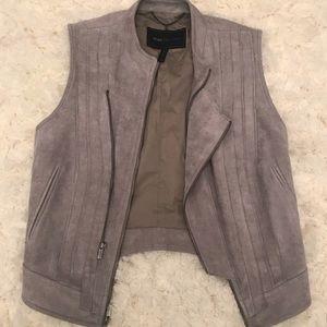 BCBG faux suede Damien vest XS gray